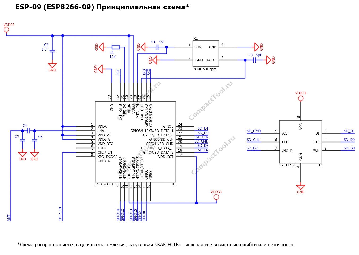 Принципиальная схема ESP-09 Principal scheme