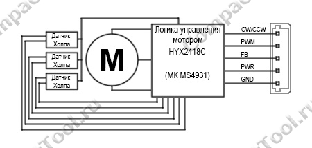 Мотор JGY-2430 схема подключения