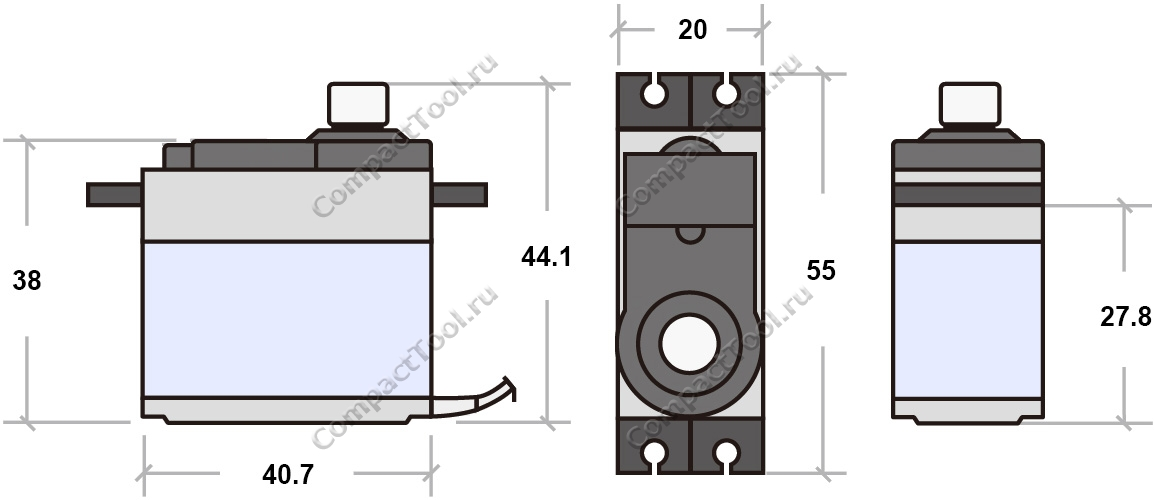 Габаритные размеры SG-5010