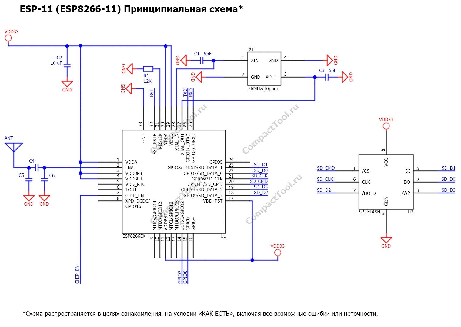 Принципиальная схема ESP-11 Principal scheme