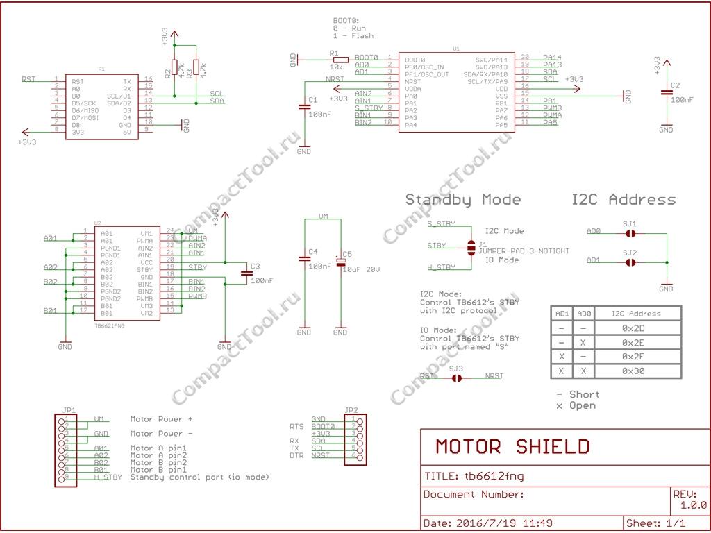 Wemos Motor Shield V1.0.0