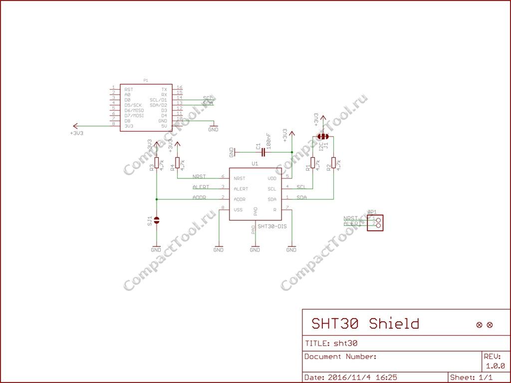 Wemos SHT30 Shield V1.0.0