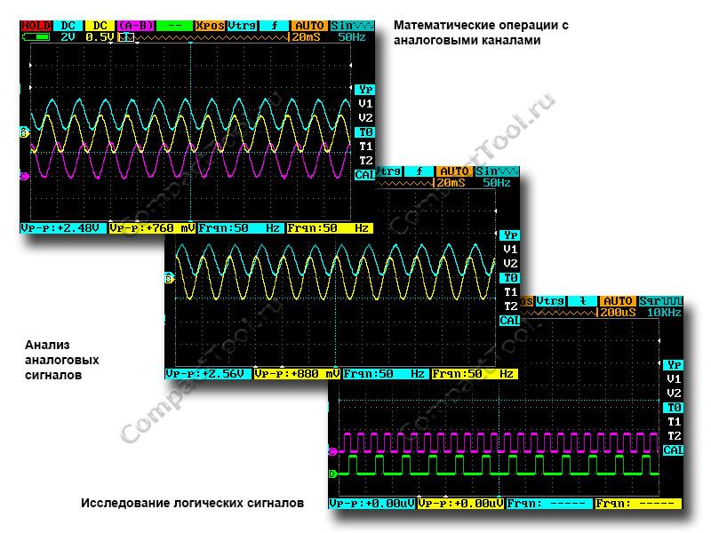 Операции измерения и сравнения сигналов DS213