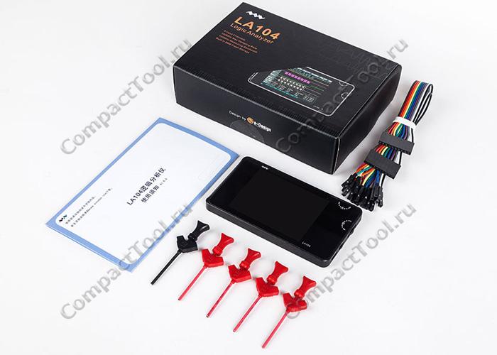 Упаковка и комплектация логического анализатора Miniware MiniDSO LA104