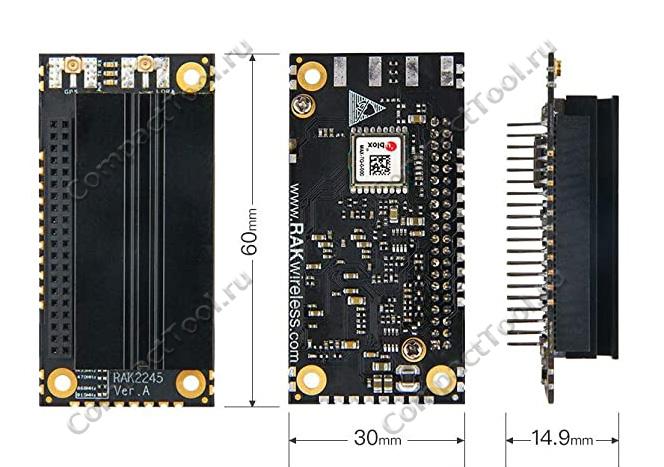 Физические размеры модуля RAK2248 96Boards Edition, мм