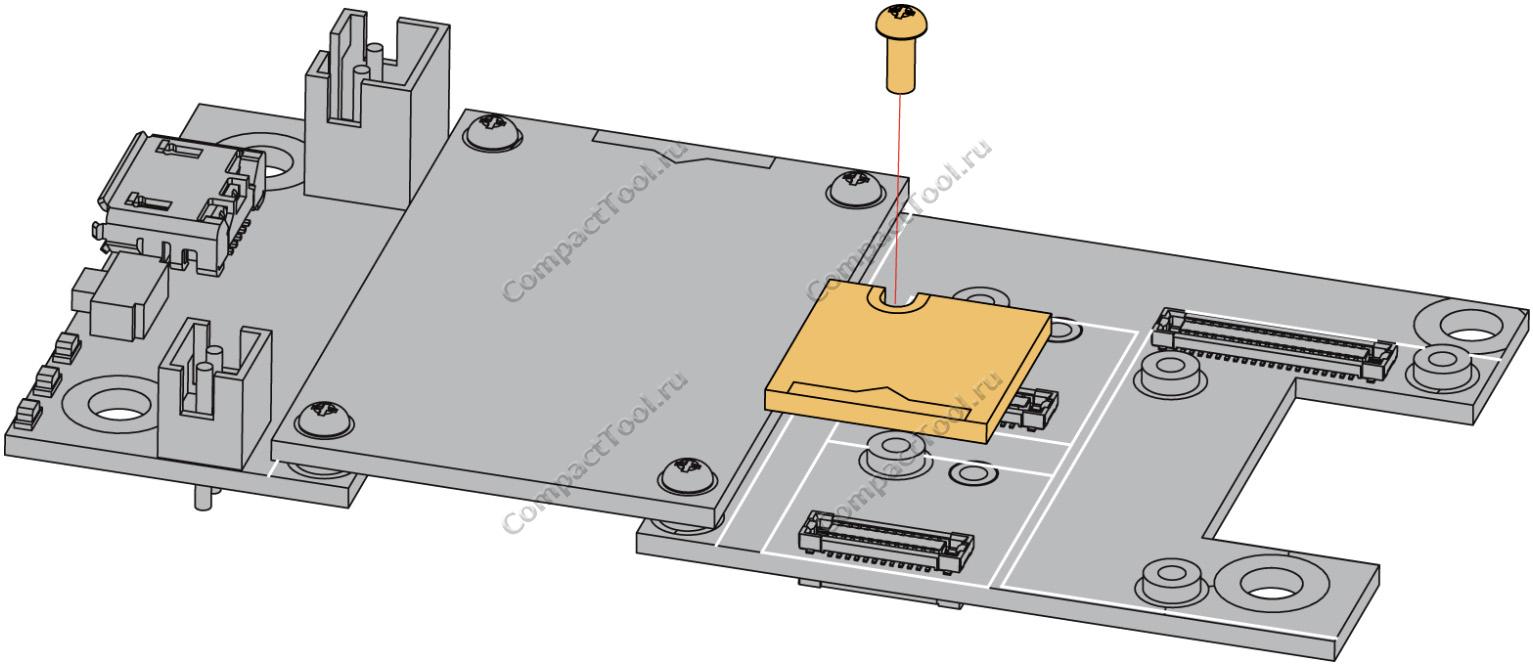 Монтажный чертёж RAK1906 WisBlock Sensor