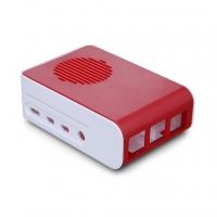 Корпус из АБС-пластика для Raspberry Pi 4 модель В красно-белого цвета