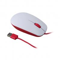 Оригинильная проводная оптическая мышь Rasberry Pi Mouse, красный/белый цвет
