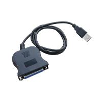 Преобразователь уровней USB to LPT в черном корпусе