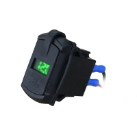 Встраиваемый USB-адаптер 2 х 5В 3.1А с вольтметром, зеленый дисплей