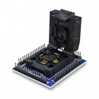 Адаптер для программирования чипов STM32 в корпусах QFP64/LQFP64/TQFP64,  шаг 0.5мм