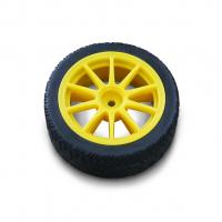 """Колесо для """"Умной машинки"""" Жёлтое под муфту (65 мм)"""