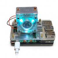 Башенный кулер с RGB-подсветкой и пластиковый многослойный корпус для Raspberry Pi 4