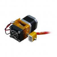 Extruder MK8 в сборе с мотором для 3D-принтера с радиатором и кулером