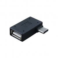 Переходник USB 2.0 (AF) to Type-C (90 Flag)