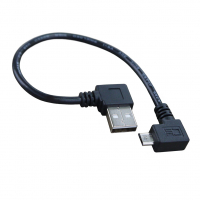 Переходник USB 2.0 (AM Flag) to microUSB (90 Flag)