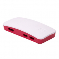 Корпус для Raspberry Pi Zero W малиново-белый пластиковый
