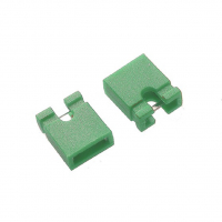 Джампер двухконтактный MJ-0 Green 2.54мм упаковка 10шт