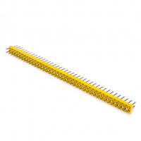 Штыревой соединитель PLD-80 желтый 2х40 с шагом 2.54мм, упаковка 2шт