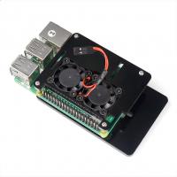 Корпус открытый для Raspberry Pi 4 с вентиляторами черный