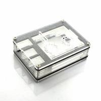Корпус открытый для Raspberry Pi 4 с вентиляторами прозрачный