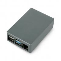 Корпус алюминиевый для Raspberry Pi 4 серый
