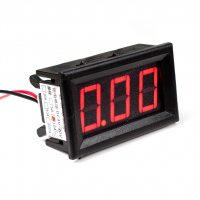 """0.56"""" встраиваемый амперметр 10 ампер 4-30 вольт красный"""