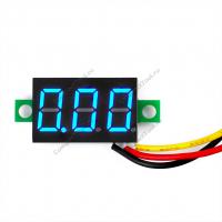 """Вольтметр 0.36"""" 0-100V синий индикатор"""