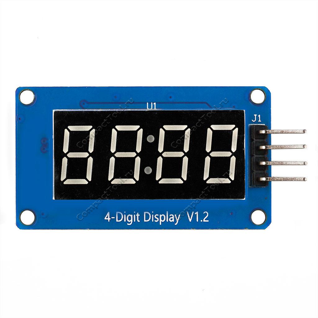 Дисплей 4 символьный с часами на TM1637