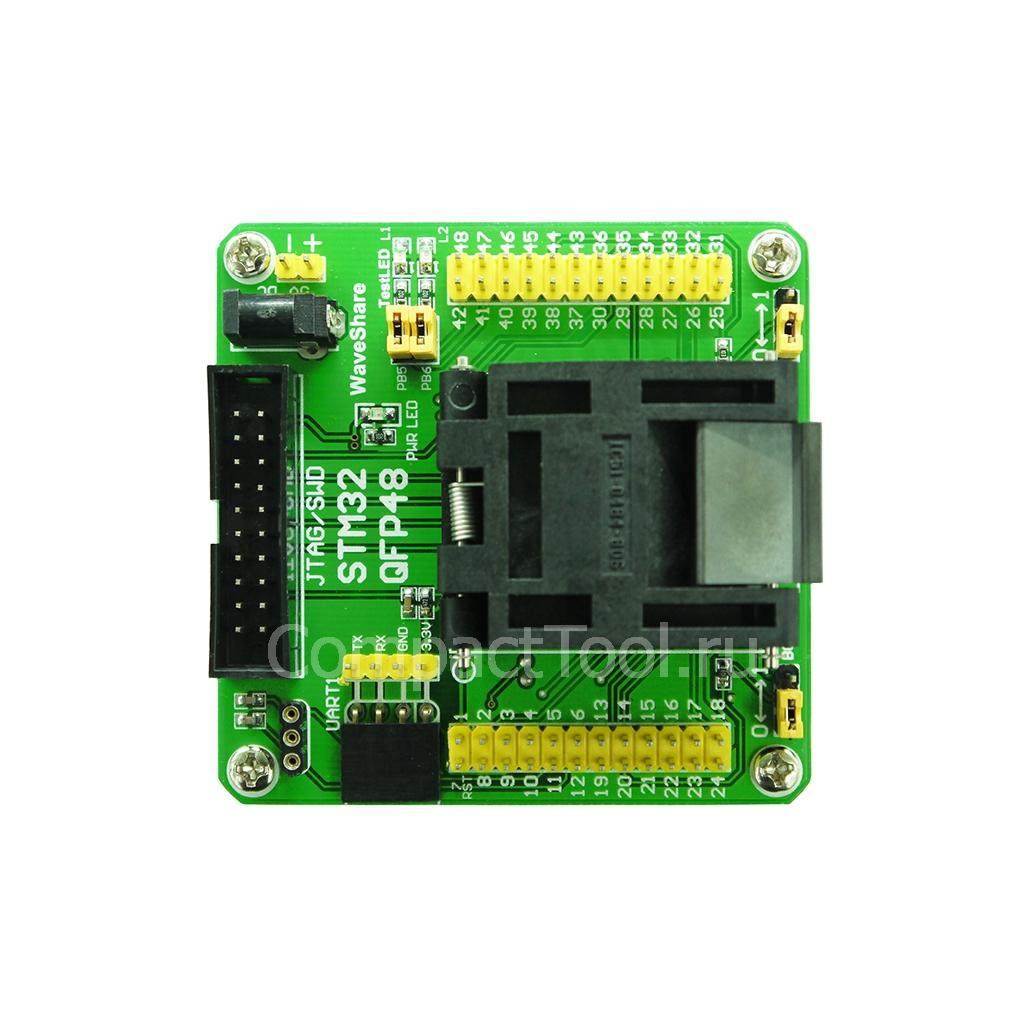 Переходник для программирования STM32 QFP48