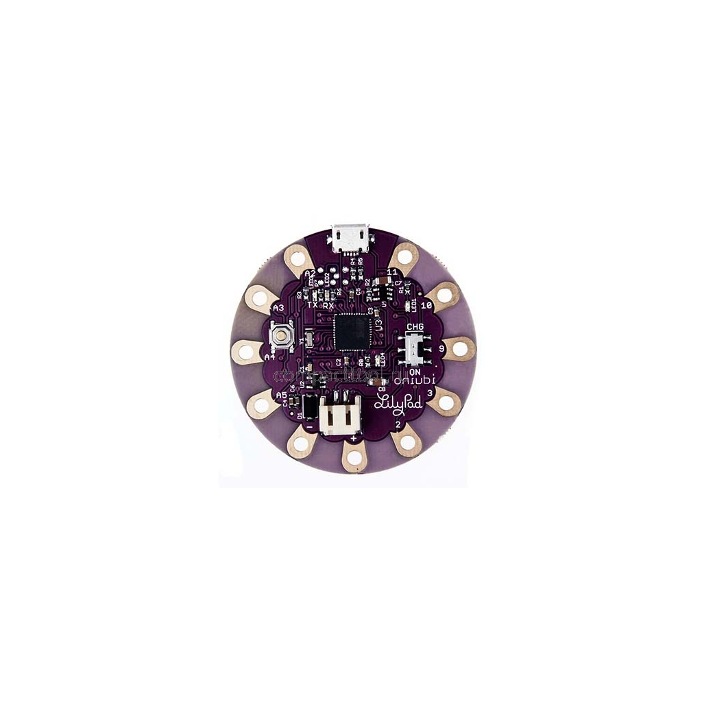 LilyPad модуль                                     С контроллером ATmega32U4 и USB