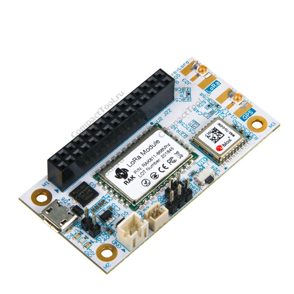 Плата разработчика RAK5205-23-R01, с поддержкой LoRa диапазона EU868 и GPS