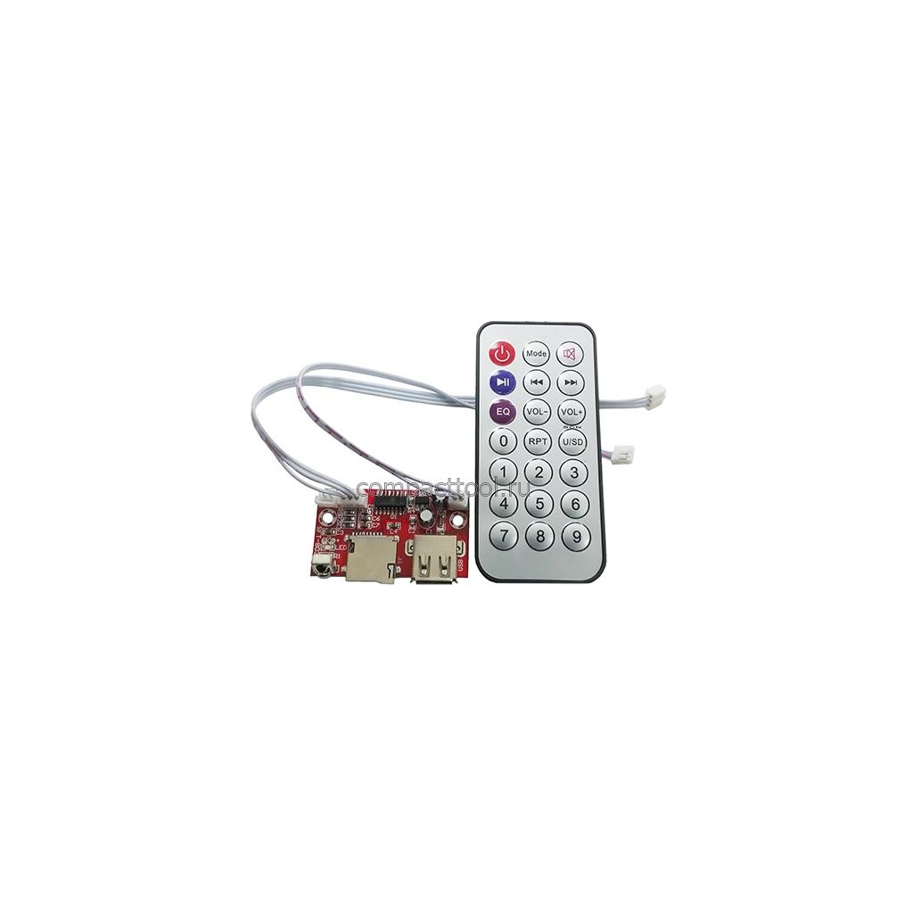 Модуль MP3 плеер + пульт питание 6-12В