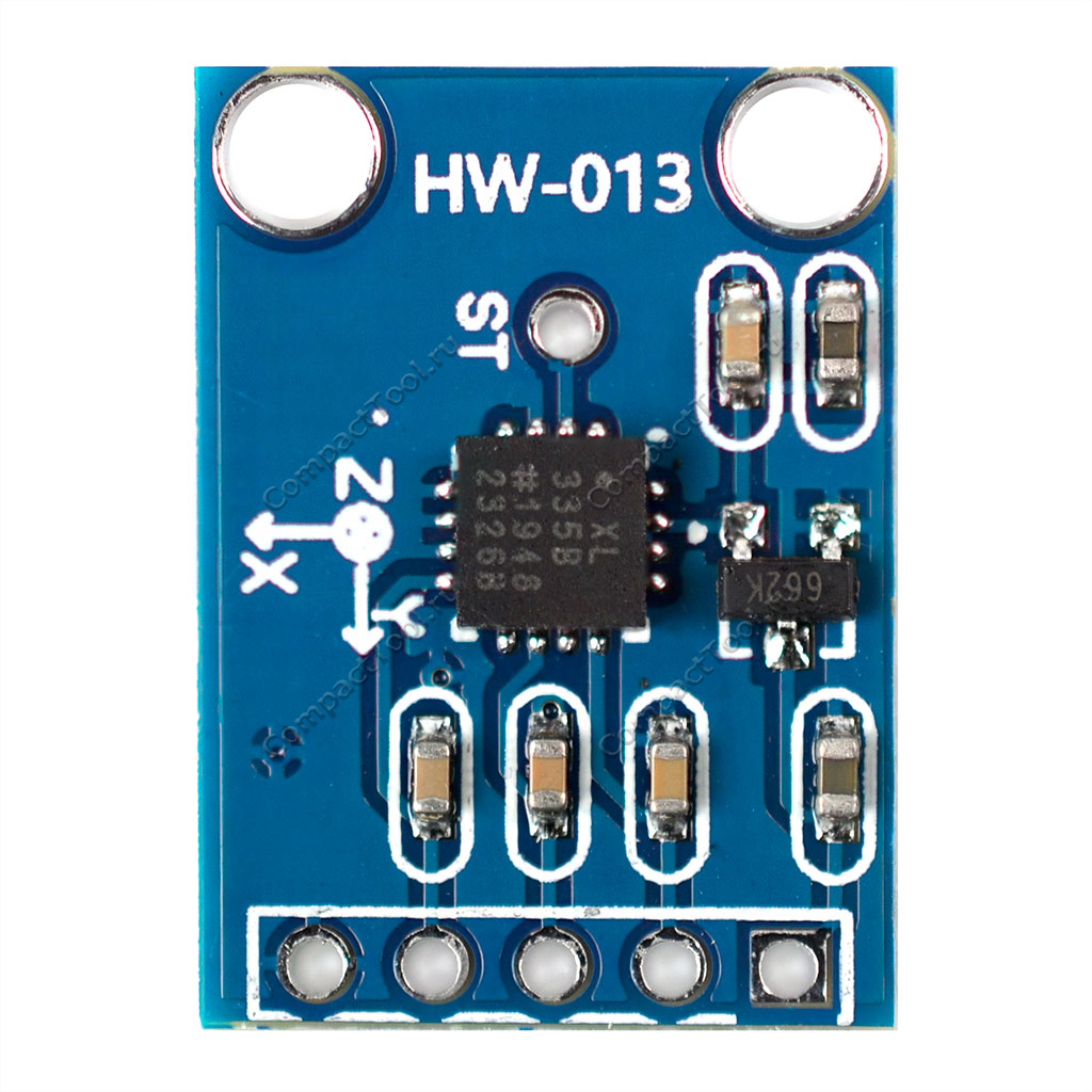 Акселерометр GY-61 на чипе ADXL335