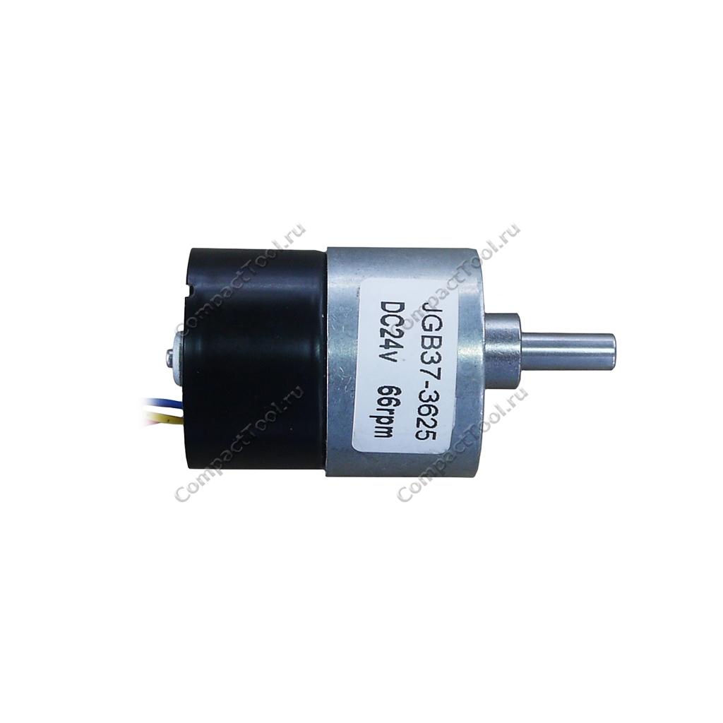Мотор-редуктор с обратной связью JGB37-3625 24В соотношение 1:90 66 об/мин