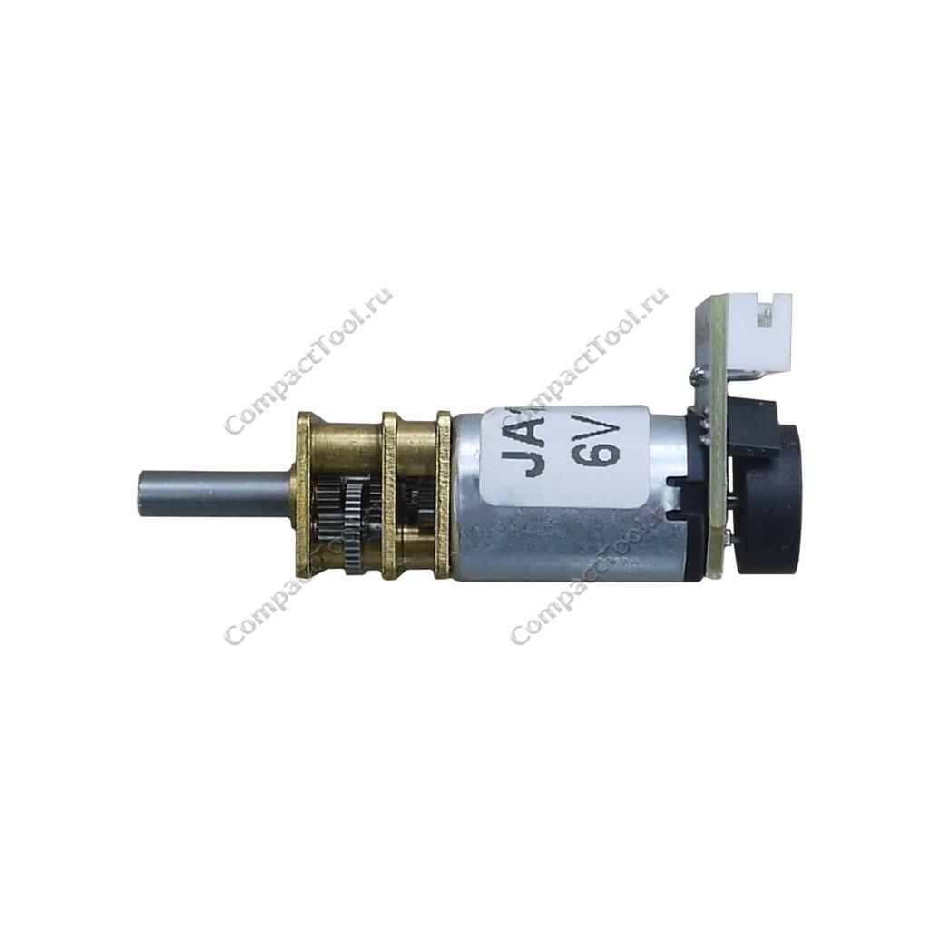 Мотор-редуктор с энкодером JA12-N20B 6В соотношение 1:210 71 об/мин