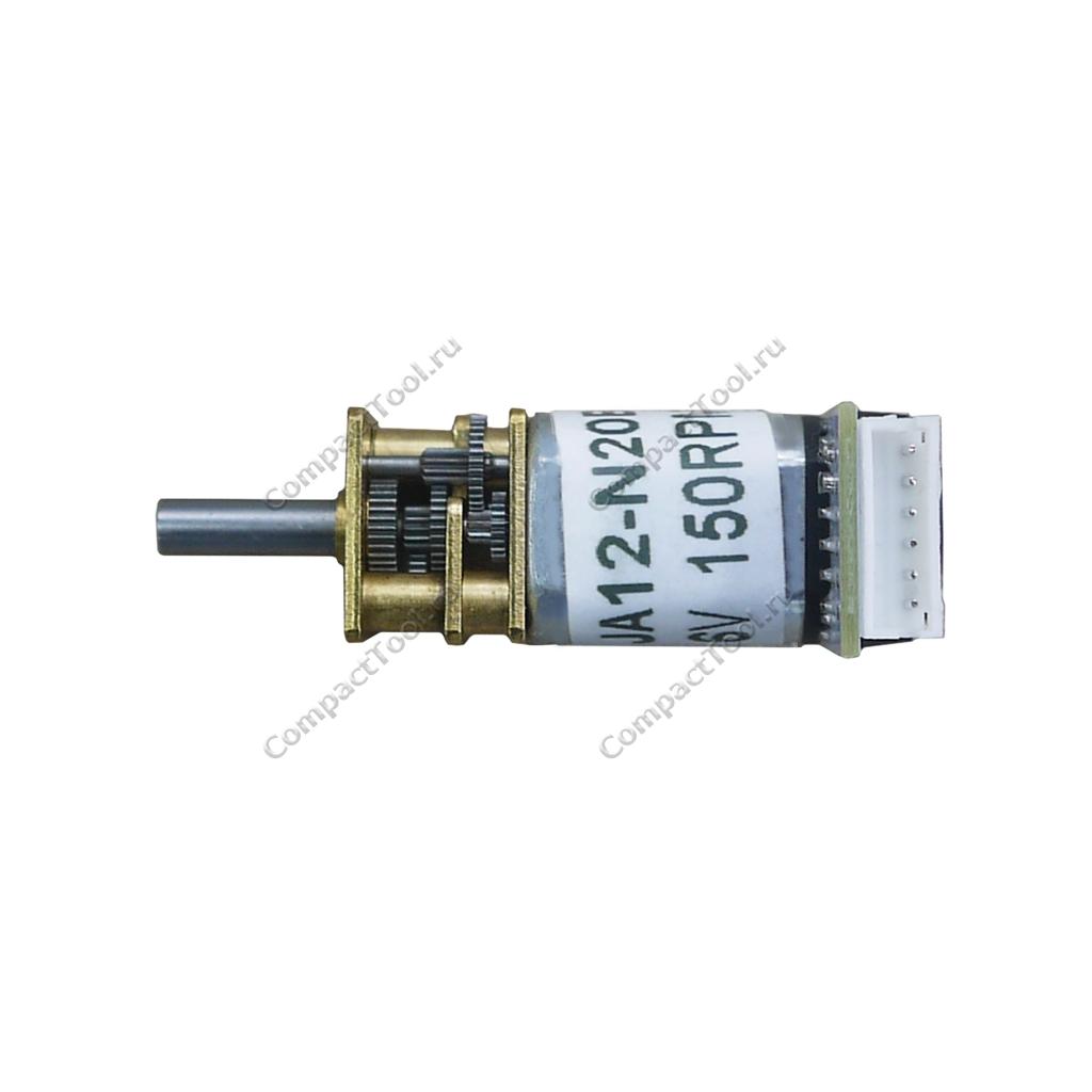 Мотор-редуктор с энкодером JA12-N20B 6В соотношение 1:100 150 об/мин