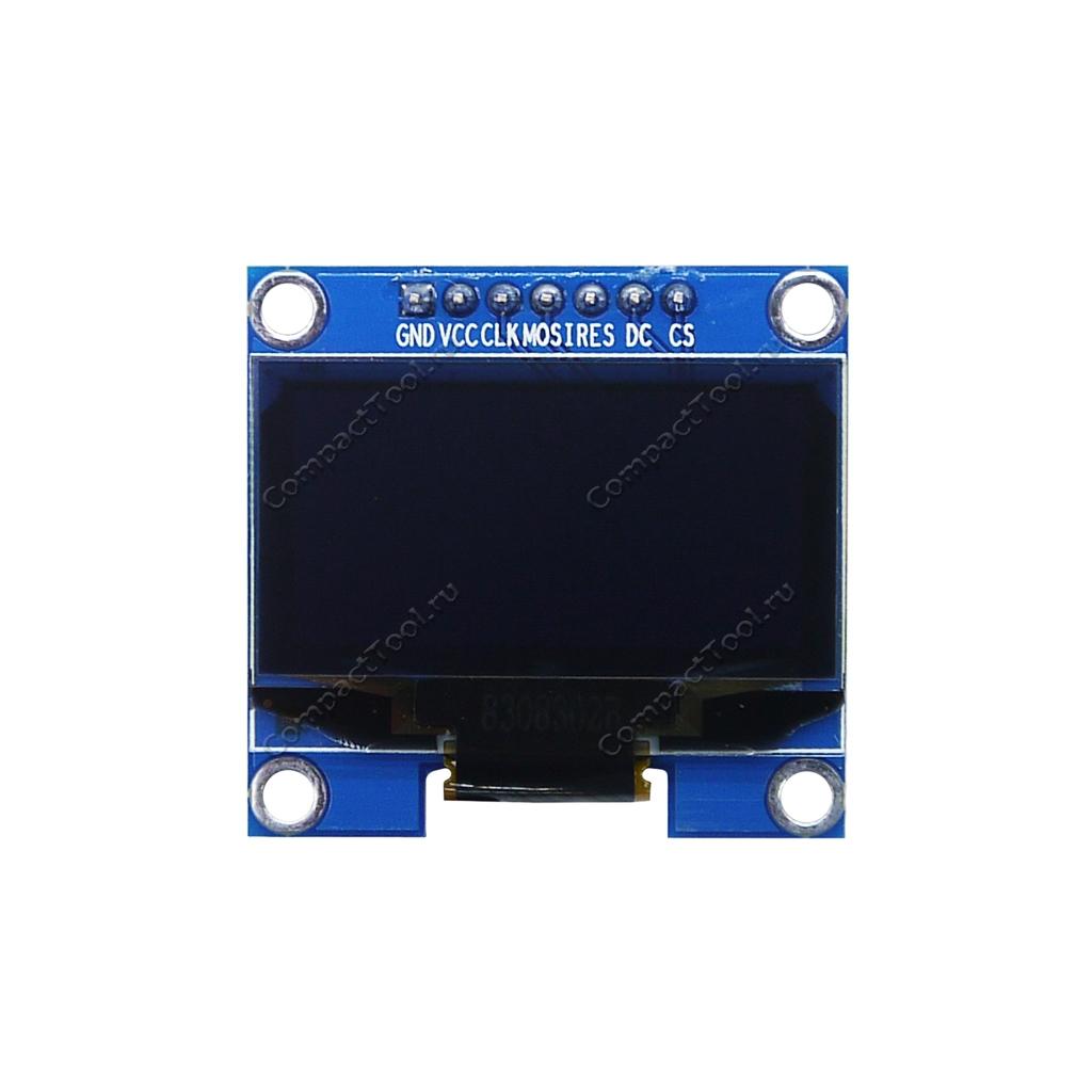 Дисплей графический 1,3 дюйма, синие символы