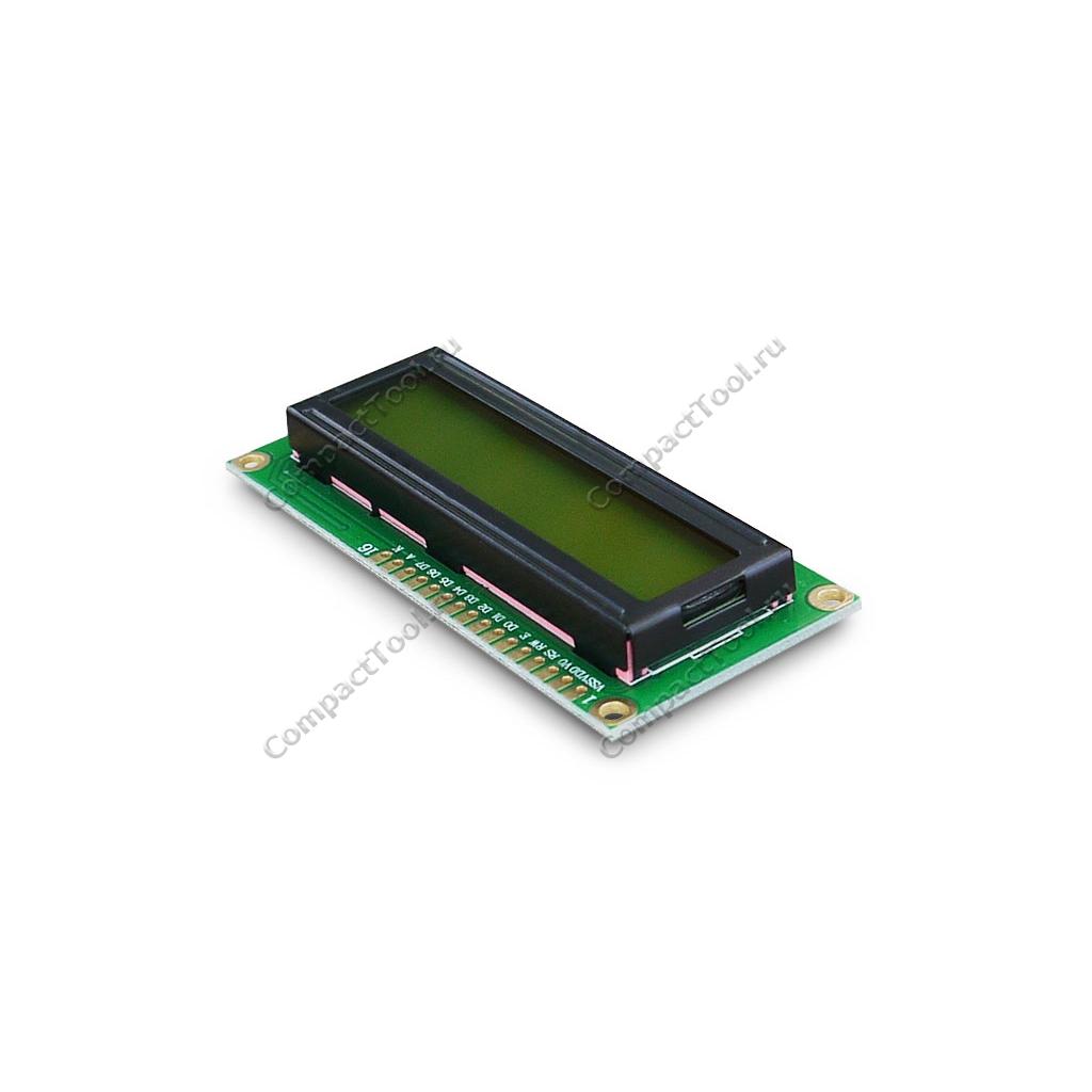 Дисплей символьный LCD1602 с  синей подсветкой