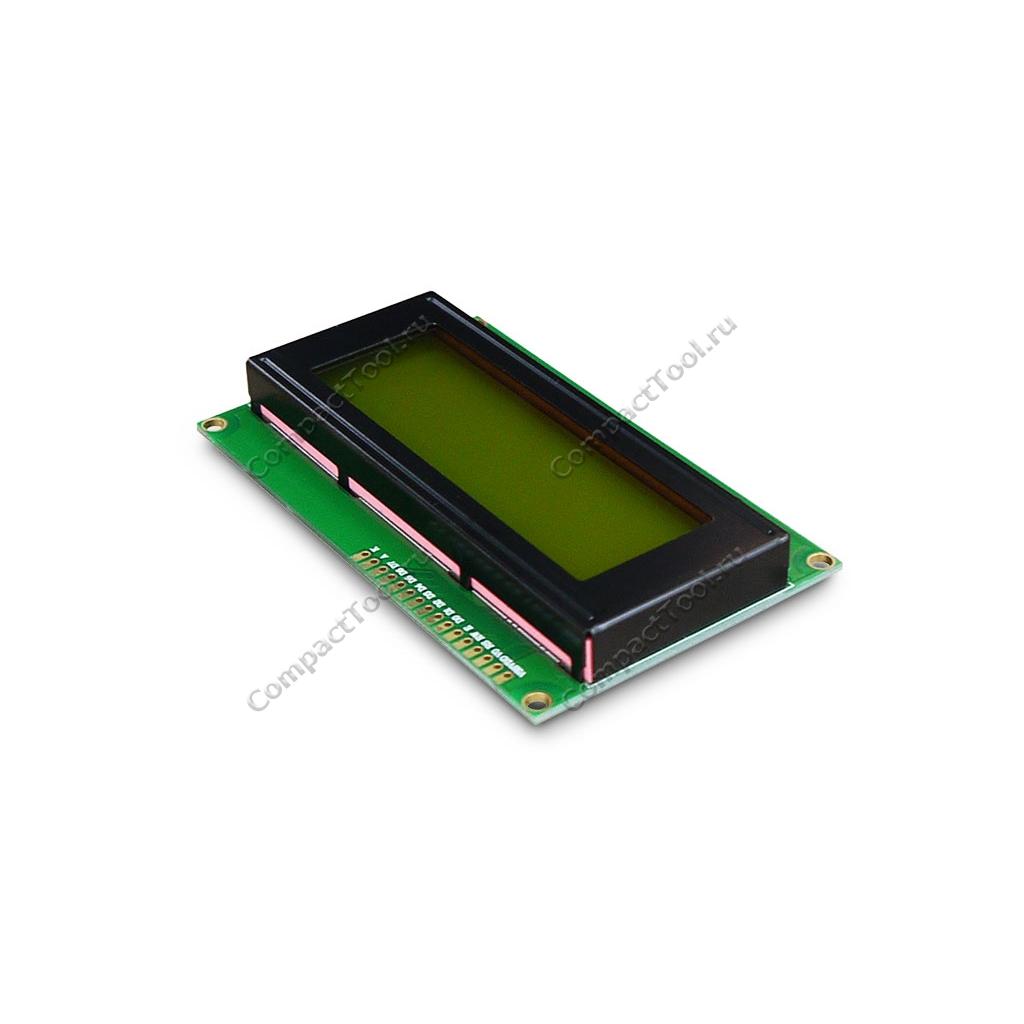 Дисплей символьный LCD2004 с желто-зеленой подсветкой