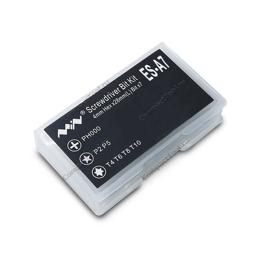 Набор бит ES-A7 для отверток ES-120, ES-121