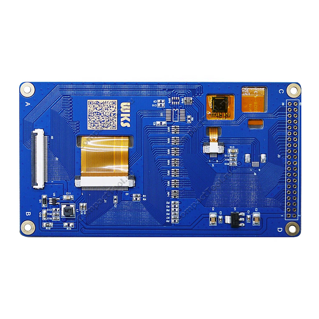 Дисплей 4.3 дюйма с сенсорной панелью IPS TFT LCD 800x480 WKS43WV004-WCT