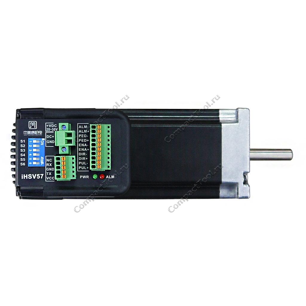 Интегрированный сервопривод iHSV57-30-18-36-01-BY формата Nema 23 с блоком управления