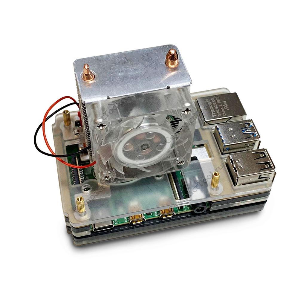 Корпус с кулером башенного типа для Raspberry Pi 4