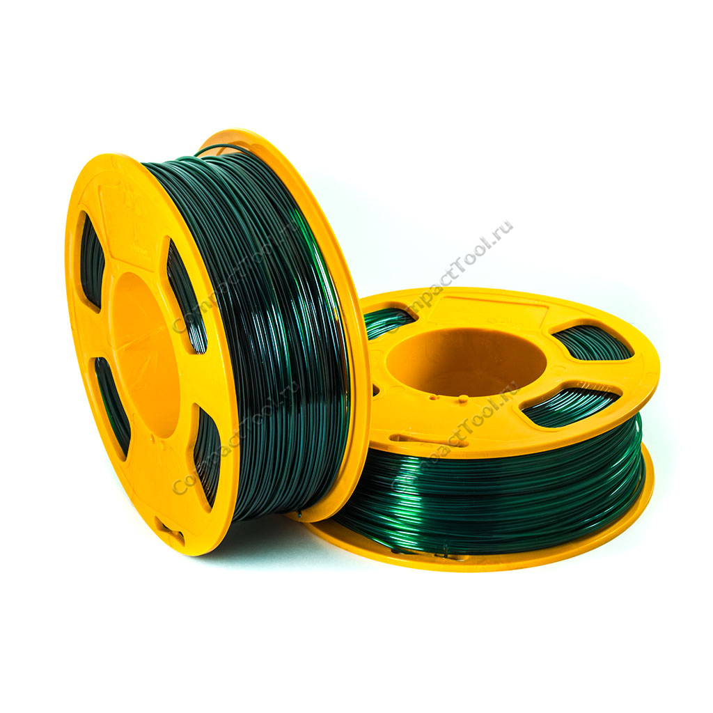 Geek Filament PETG. Emerald Transparent / Изумруд / 1.75 мм