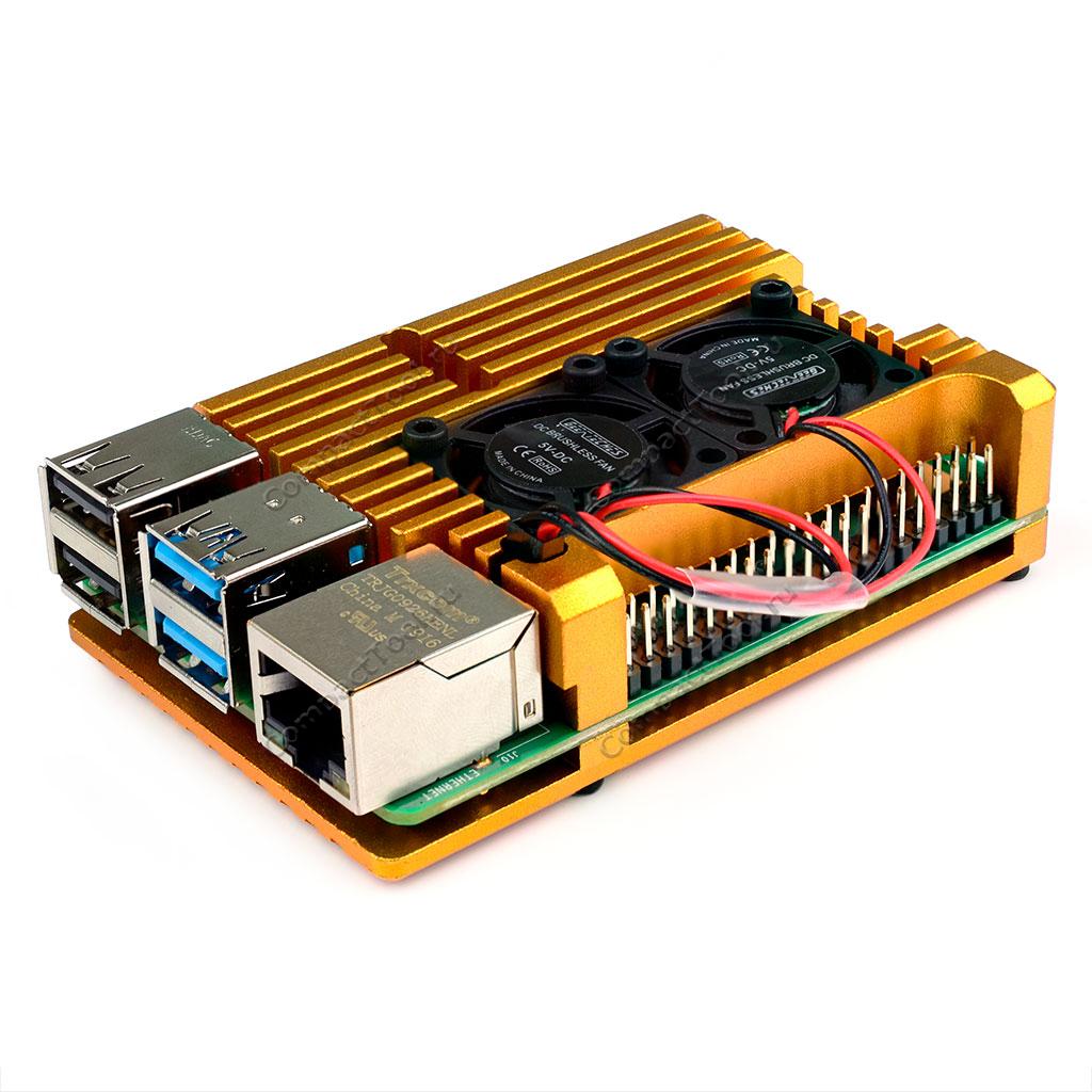 Корпус для Raspberry Pi 4 алюминиевый золото