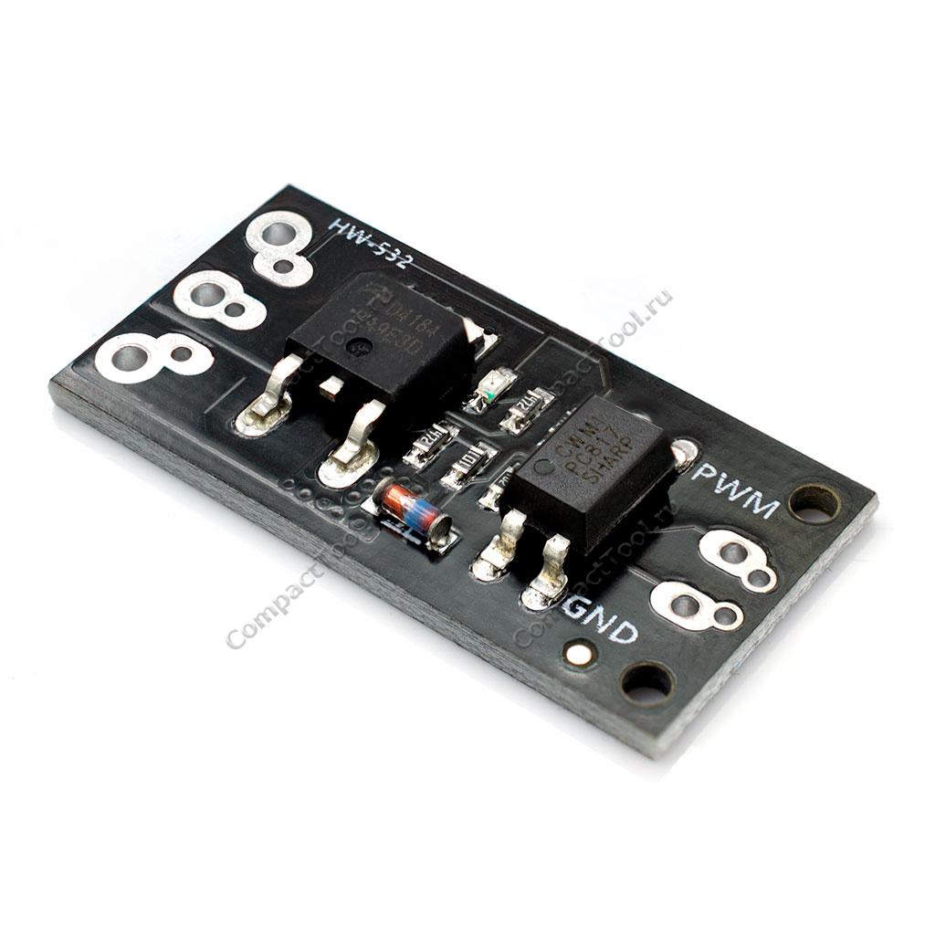 Модуль драйвера управления нагрузкой на полевом транзисторе D4184