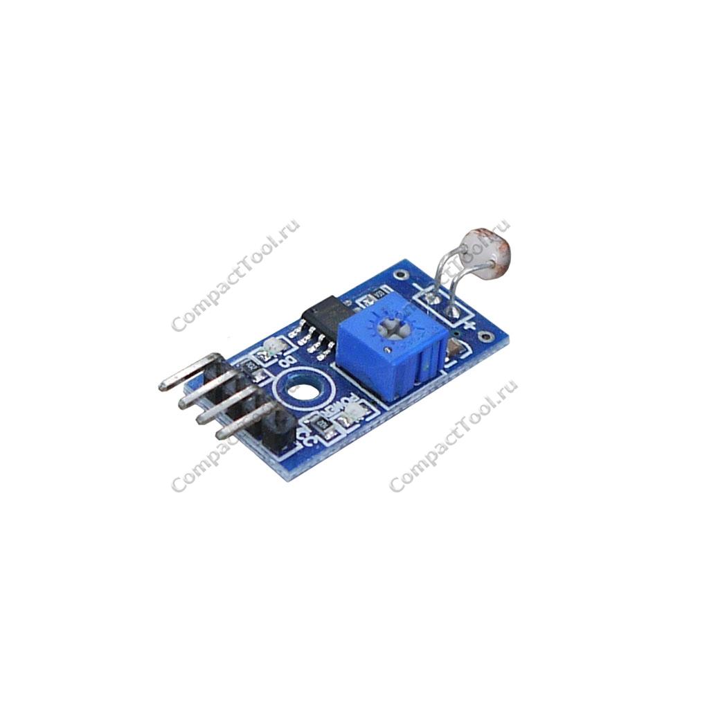 Датчик освещенности аналоговый на фоторезисторе