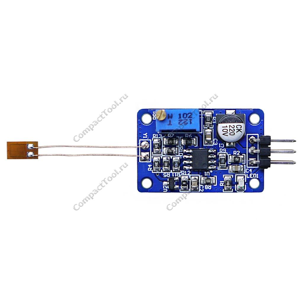 Датчик надавливания (Тензорезистор) с модулем управления