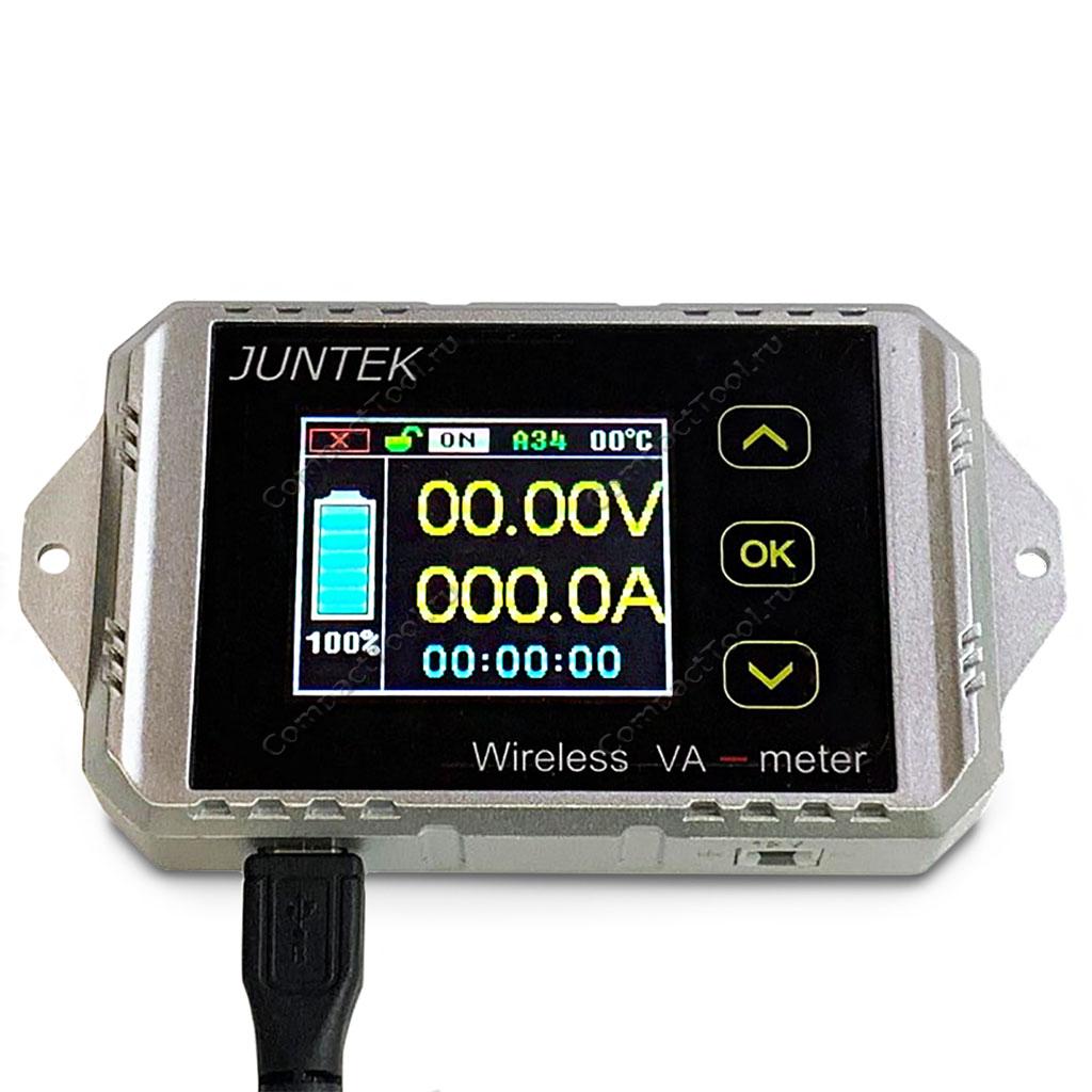 Вольт-амперметр JUNTEK VAT1200 с выносным дисплеем 100 В, 200 А